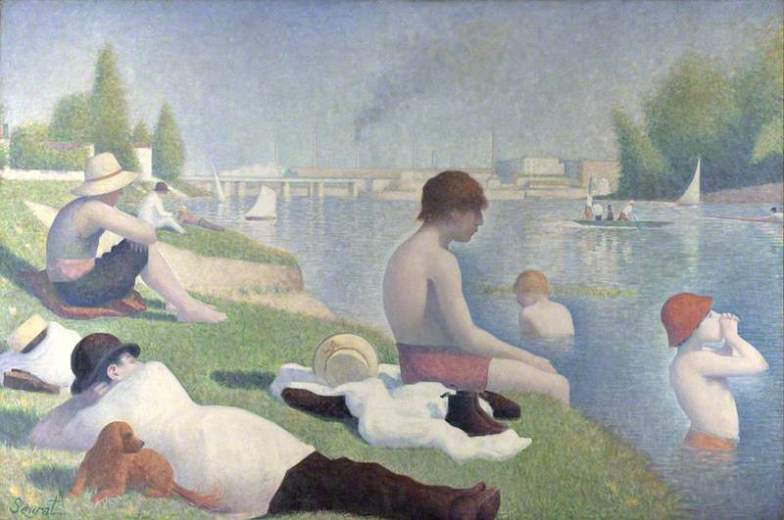Bathers at Asnières (1884)