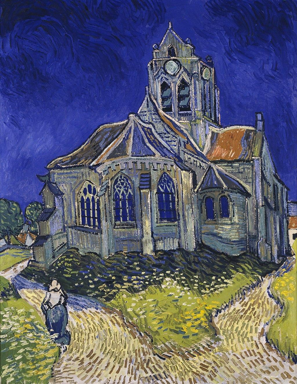 L'église d'Auvers-sur-Oise, vue du chevet(1890)